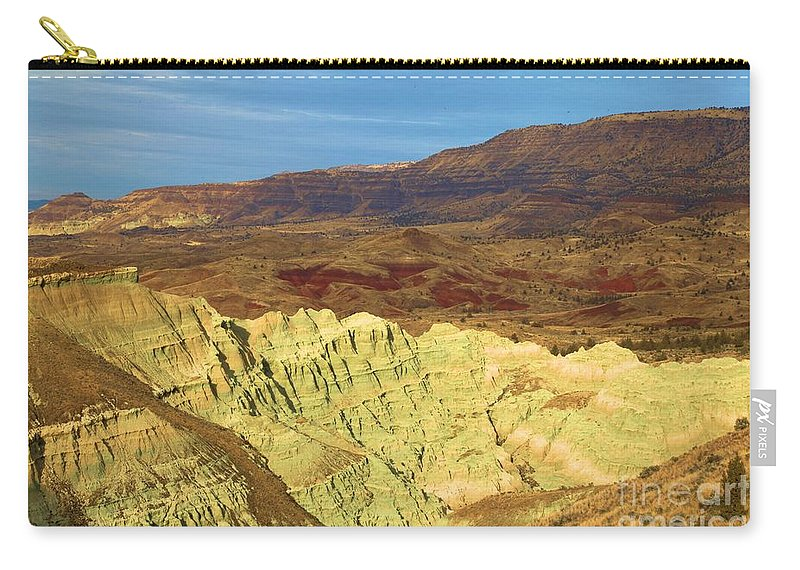John Day Fossil Beds National Monument Carry-all Pouch featuring the photograph Green Shoots by Adam Jewell