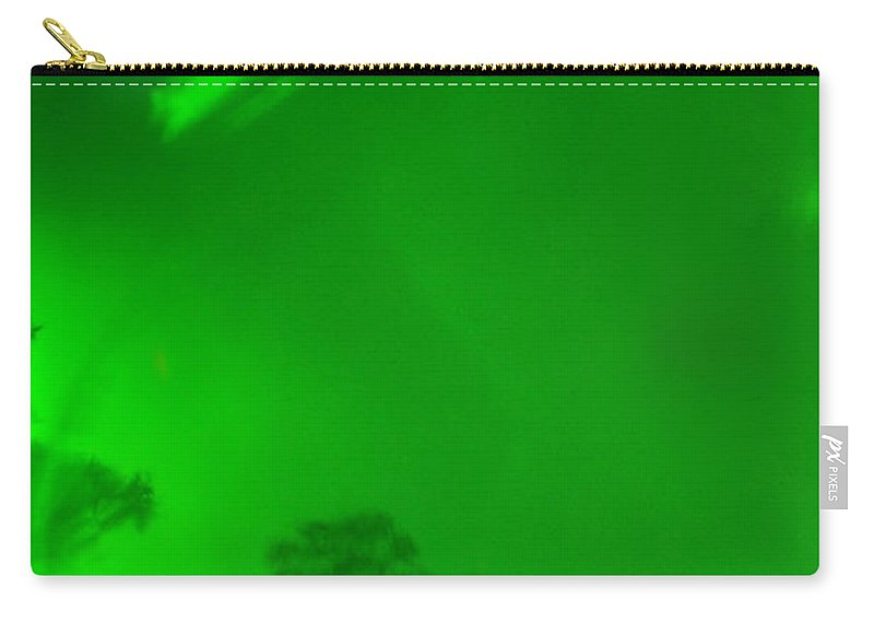 Green Sky Carry-all Pouch featuring the photograph Green Sky River by Christine Stonebridge