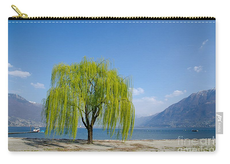 Tree Carry-all Pouch featuring the photograph Green Tree by Mats Silvan