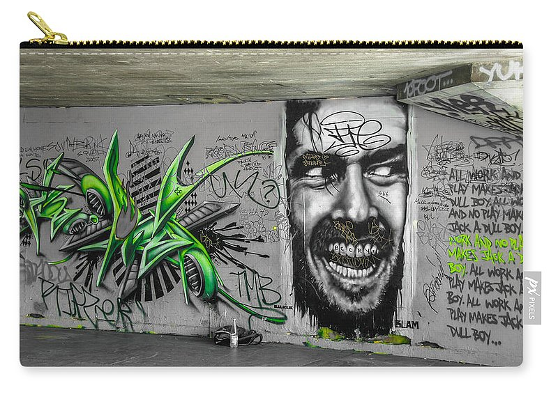 Street Art Carry-all Pouch featuring the photograph Green With Envy by Jonah Anderson