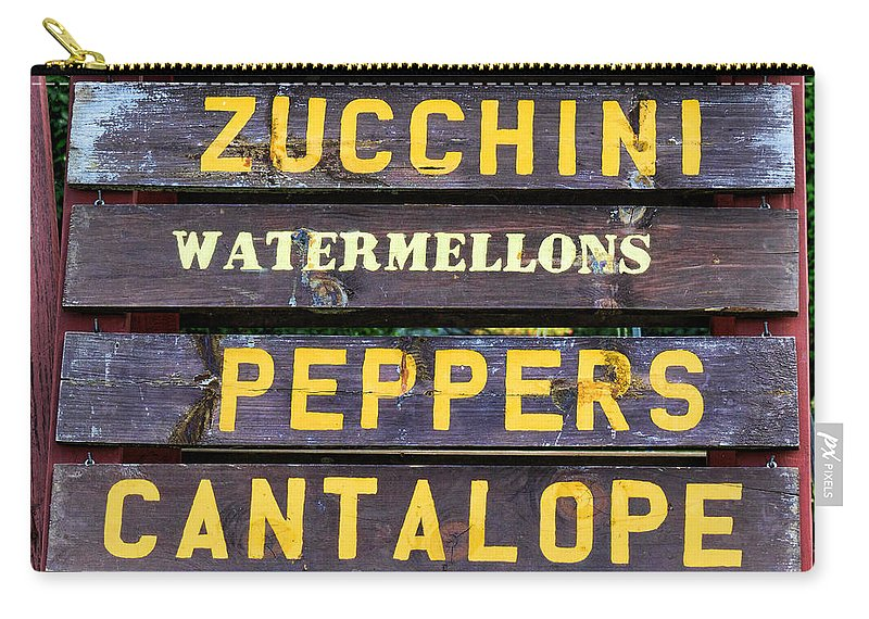 Farm Fresh Foods For Sale Signm Tomatoes Carry-all Pouch featuring the photograph Guaranteed Farm Fresh Foods by Paul Ward