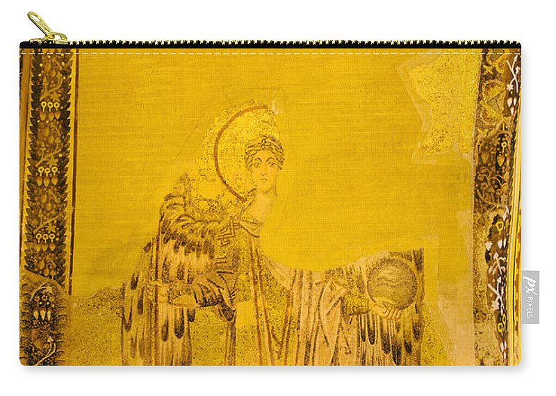 Art Carry-all Pouch featuring the photograph Guardian Angel Byzantine Art by Artur Bogacki
