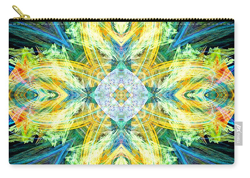 Angel Carry-all Pouch featuring the digital art Guardian Angel Of The Home by Diana Haronis