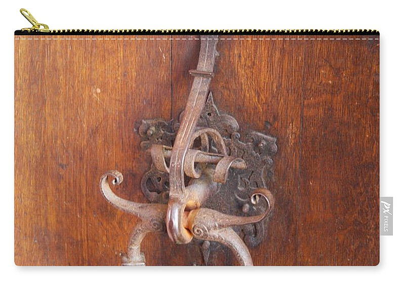 Guild Hall Carry-all Pouch featuring the photograph Guild Hall Door Knocker by Christiane Schulze Art And Photography