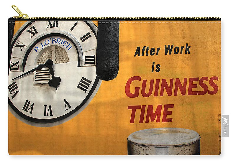 Guinness Carry-all Pouch featuring the photograph Guinness Beer 1 by Andrew Fare