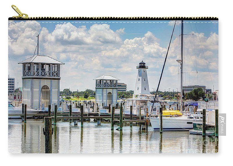Harbor Carry-all Pouch featuring the photograph Gulfport Harbor by Joan McCool