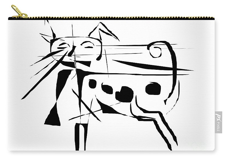 Graphics Carry-all Pouch featuring the digital art Cat 099 - Marucii by Marek Lutek