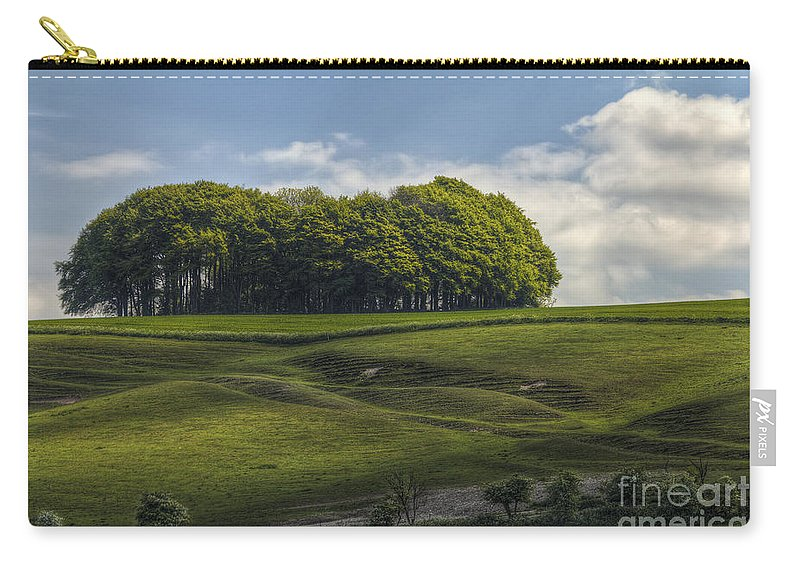 Hackpen Hill Carry-all Pouch featuring the photograph Hackpen Hill by Clare Bambers