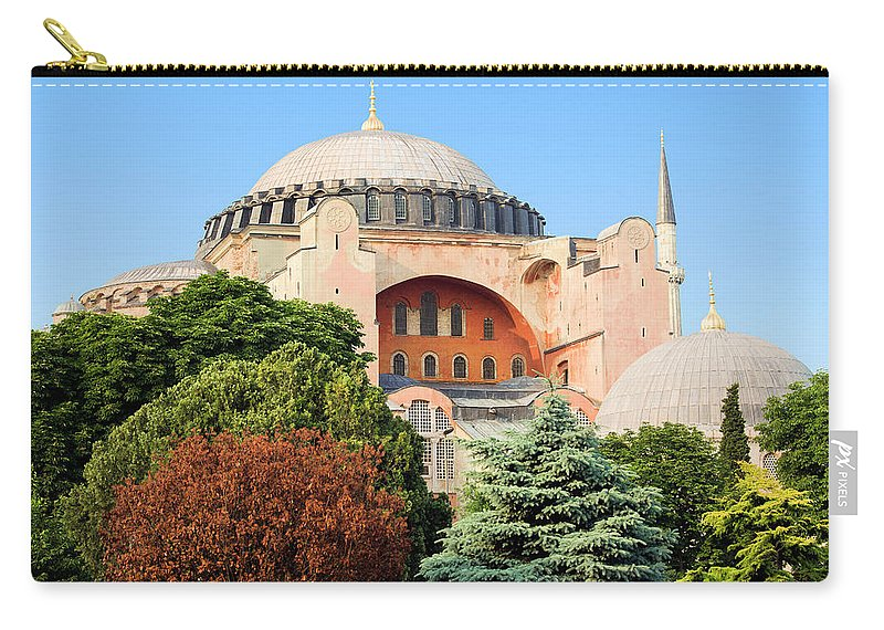 Ayasofya Carry-all Pouch featuring the photograph Hagia Sophia by Artur Bogacki