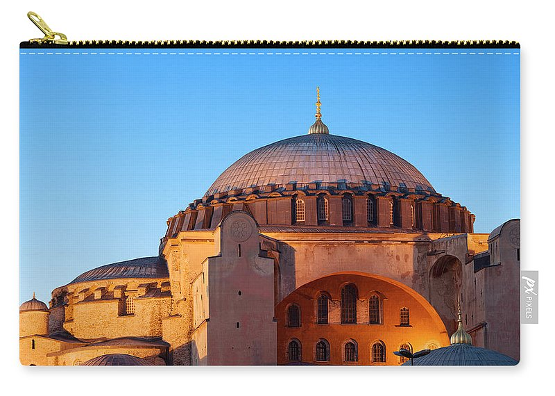 Aghia Carry-all Pouch featuring the photograph Hagia Sophia In Istanbul by Artur Bogacki