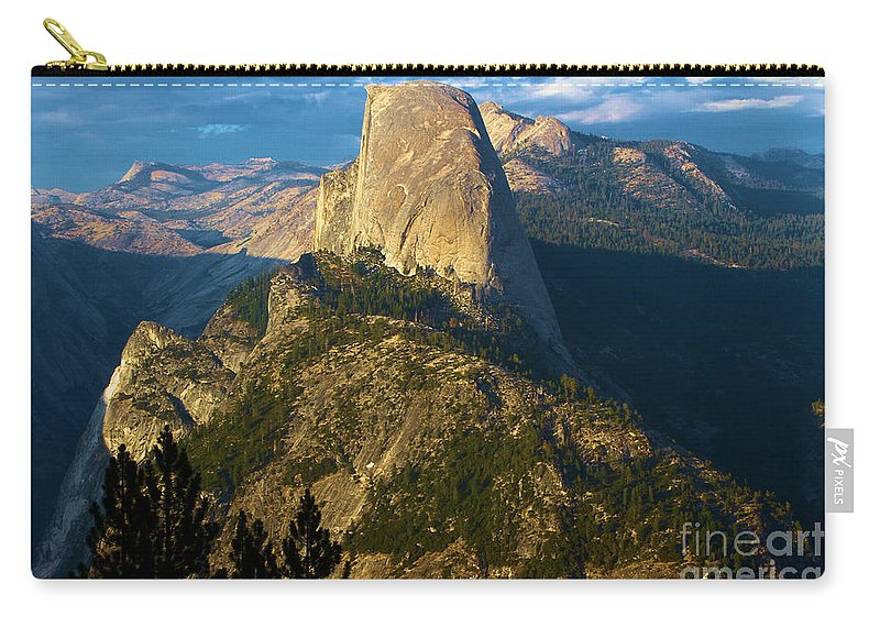 Half Dome Carry-all Pouch featuring the photograph Half Dome From Washburn Point by Adam Jewell