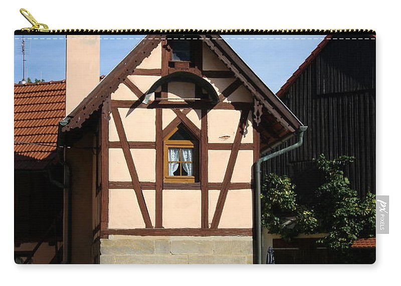 Old House Carry-all Pouch featuring the photograph Half Timber House - Franconian Village by Christiane Schulze Art And Photography