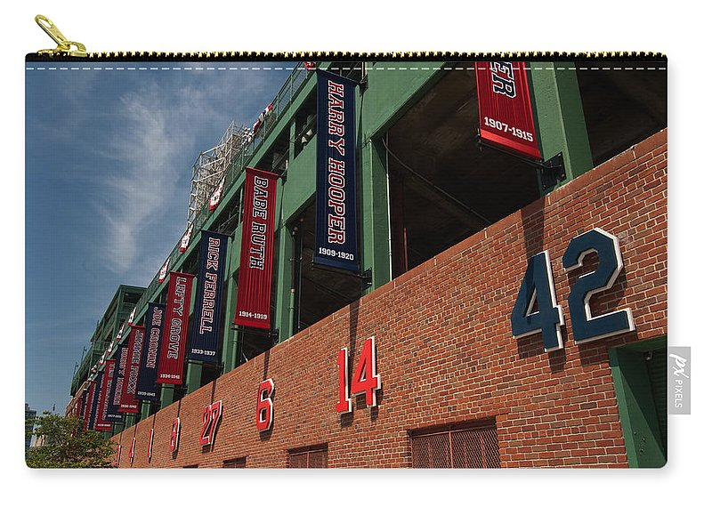 boston Red Sox Carry-all Pouch featuring the Hall Of Famers by Paul Mangold