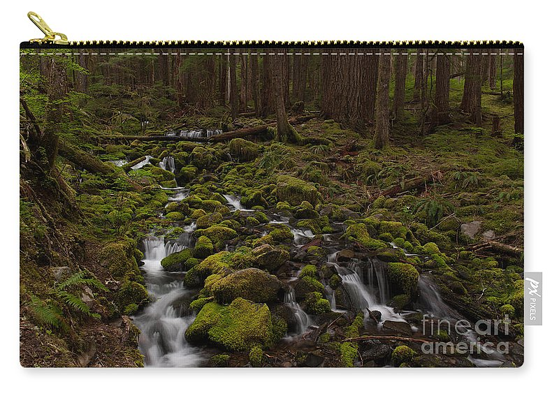 Olympic National Park Carry-all Pouch featuring the photograph Hall Of The Mosses by Mike Reid