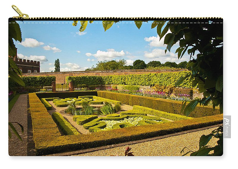 Hampton Court Gardens Carry-all Pouch featuring the photograph Hampton Court Gardens by Jon Berghoff