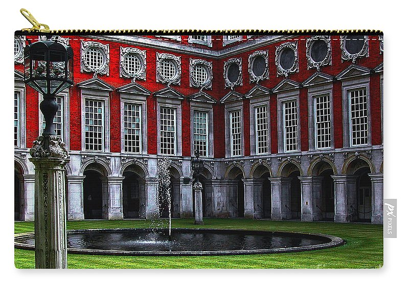 Architecture Carry-all Pouch featuring the photograph Hampton Court Palace by Kathleen K Parker