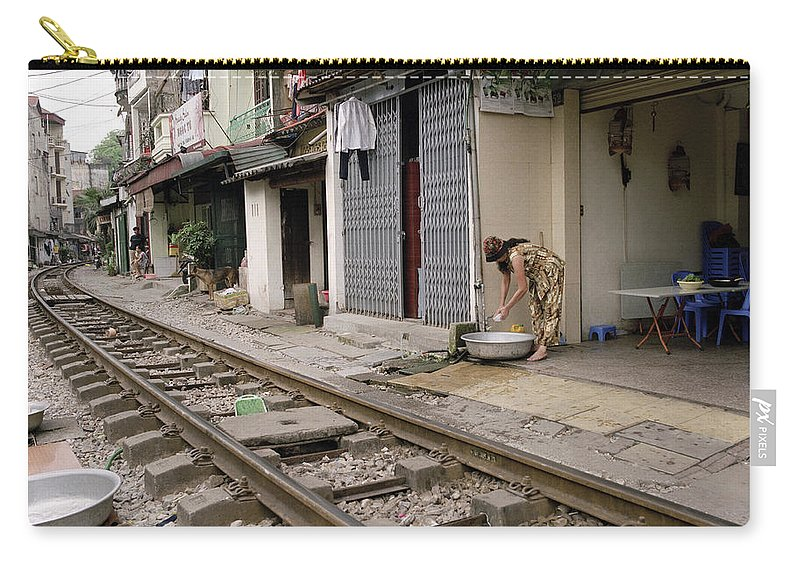 Asia Carry-all Pouch featuring the photograph Hanoi Daily Life by Shaun Higson