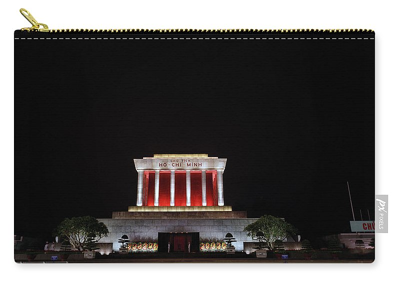 Asia Carry-all Pouch featuring the photograph Hanoi Ho Chi Minh Mausoleum by Shaun Higson