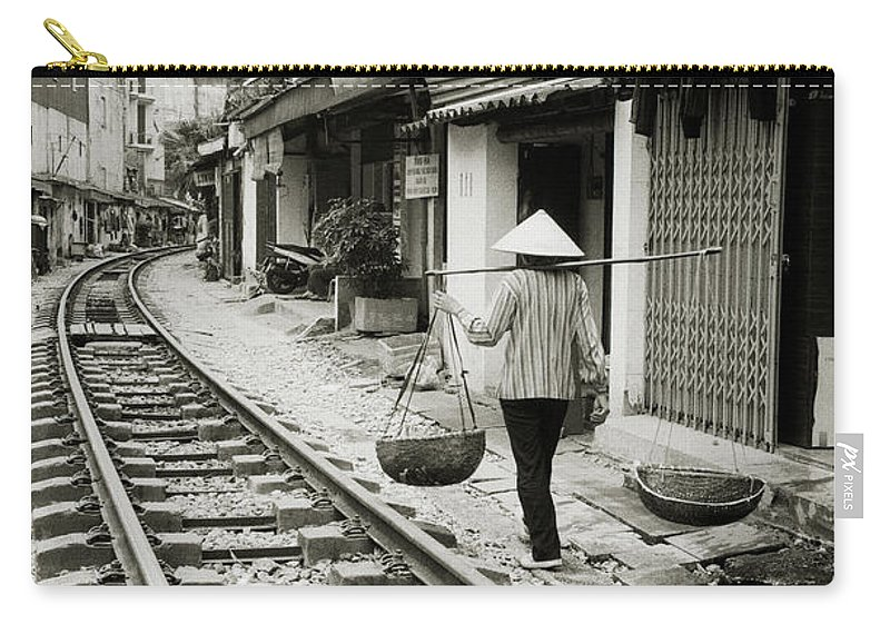 Asia Carry-all Pouch featuring the photograph Hanoi Life by Shaun Higson