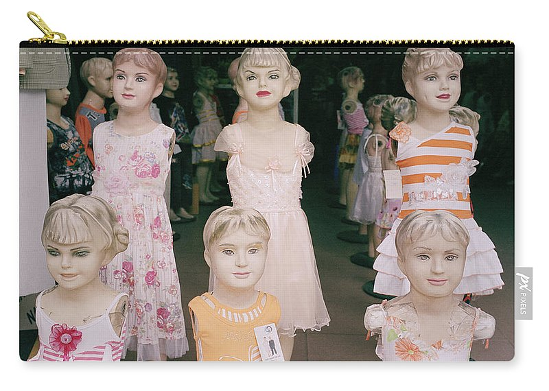 Culture Carry-all Pouch featuring the photograph Hanoi Mannequins by Shaun Higson