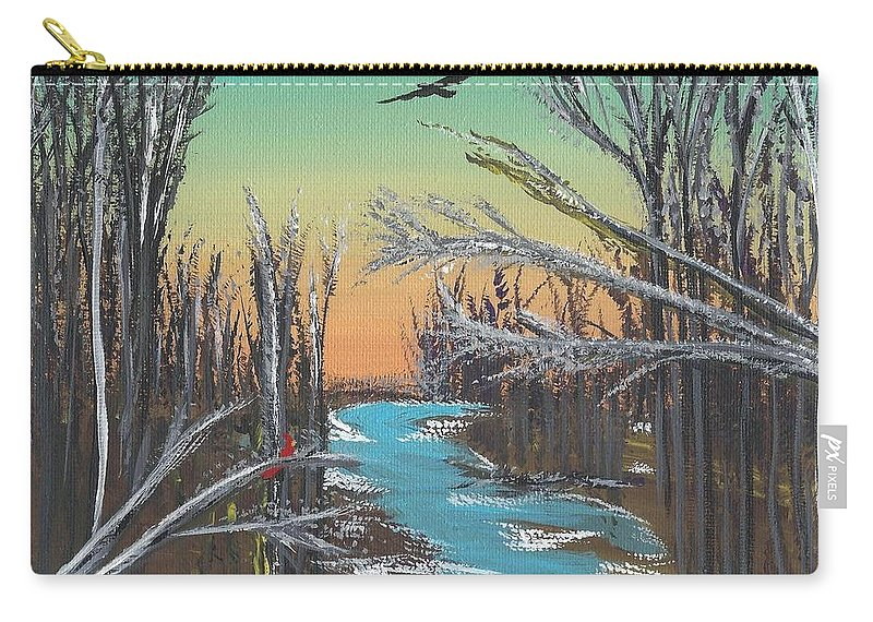 Landscape Carry-all Pouch featuring the painting Happy Day by Alys Caviness-Gober