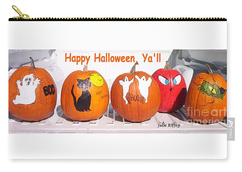 Pumpkins Carry-all Pouch featuring the photograph Happy Halloween Yall by Julie Brugh Riffey