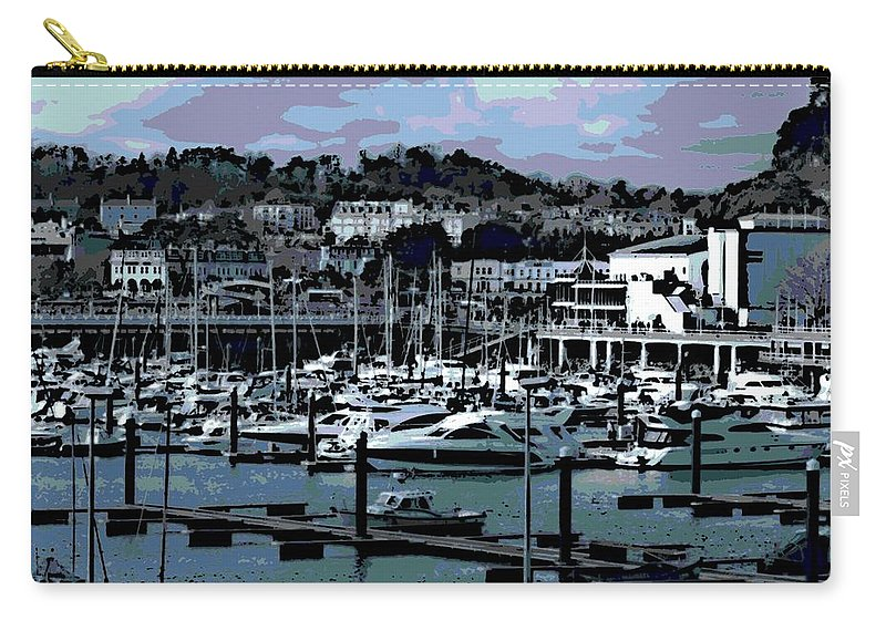 Harbor Carry-all Pouch featuring the photograph Harbor At Torquay by George Pedro