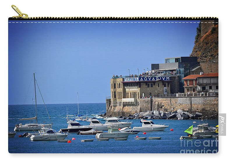 Harbor Carry-all Pouch featuring the photograph Harbor - North Coast Of Spain by Mary Machare