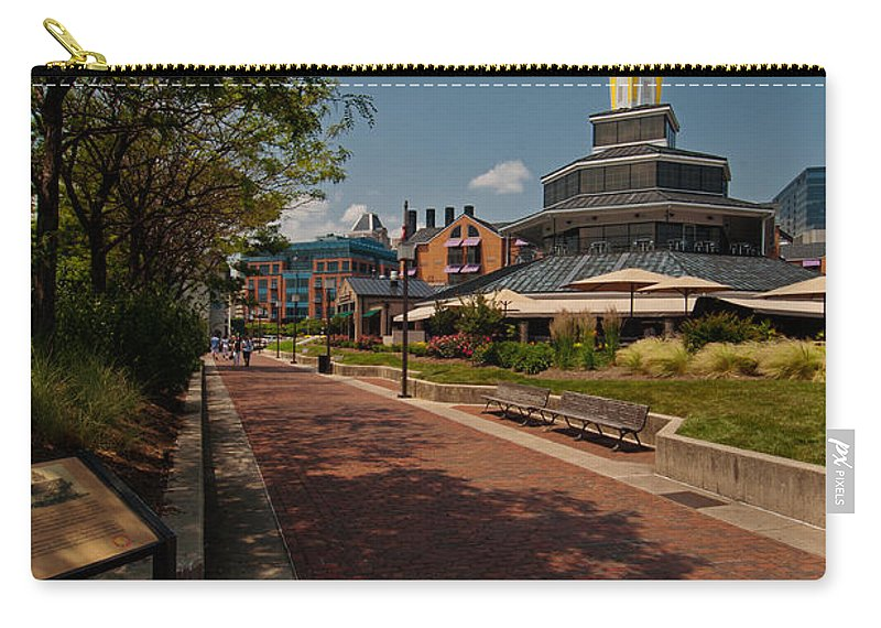 Baltimore Carry-all Pouch featuring the photograph Harbor Walk by Paul Mangold