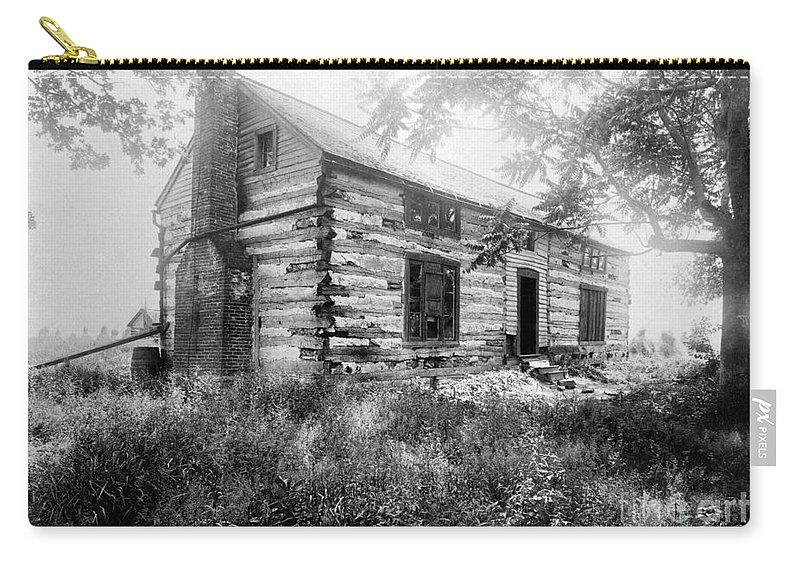1890 Carry-all Pouch featuring the photograph Hardscrabble Cabin, C1890 by Granger