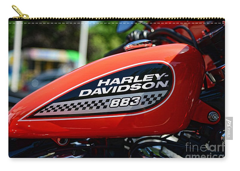 Harley Davidson 883 Gas Tank Carry-all Pouch featuring the photograph Harley Davidson 883 Gas Tank by Paul Ward