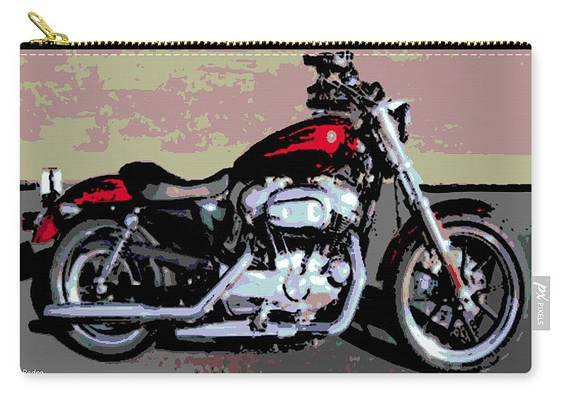 Harley Carry-all Pouch featuring the photograph Harley Davidson by George Pedro