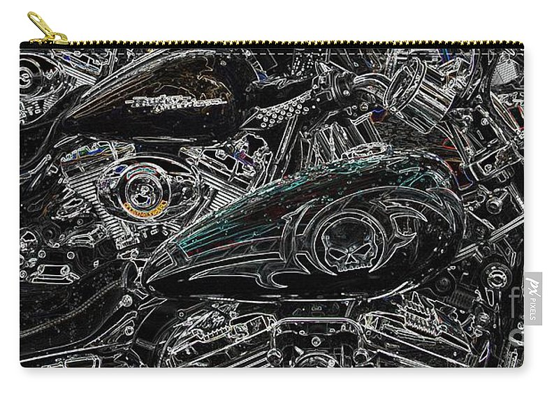 Harley Davidson Carry-all Pouch featuring the photograph Harley Davidson Style 2 by Anthony Wilkening