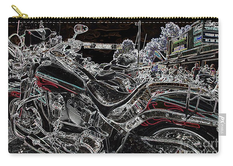 Harley Davidson Carry-all Pouch featuring the photograph Harley Davidson Style 3 by Anthony Wilkening