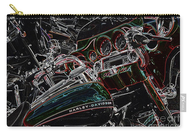 Harley Carry-all Pouch featuring the photograph Harley Davidson Style 4 by Anthony Wilkening
