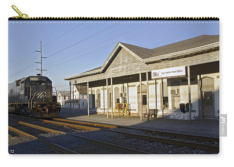 2d Carry-all Pouch featuring the photograph Harrington Yard Office by Brian Wallace