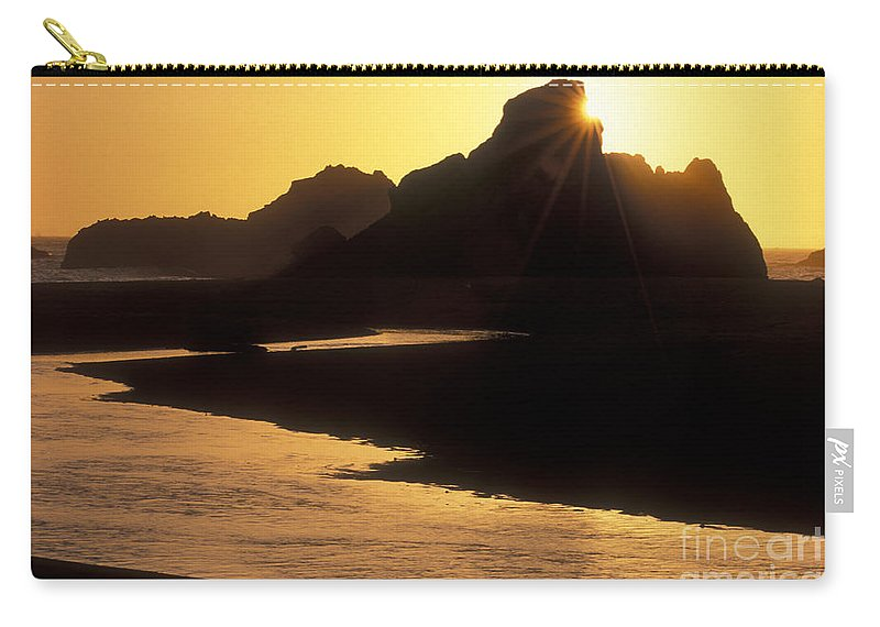 Sandra Bronstein Carry-all Pouch featuring the photograph Harris Beach Sunset by Sandra Bronstein