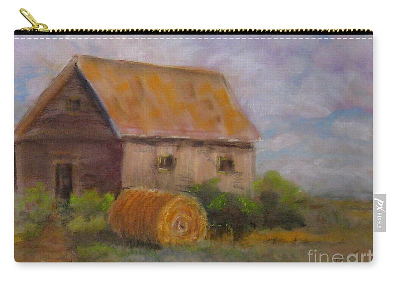 Carry-all Pouch featuring the painting Harvest by Mohamed Hirji