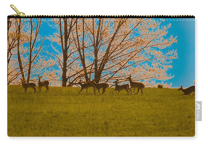 Deer Carry-all Pouch featuring the photograph Has Anyone Seen Rudolph by Trish Tritz