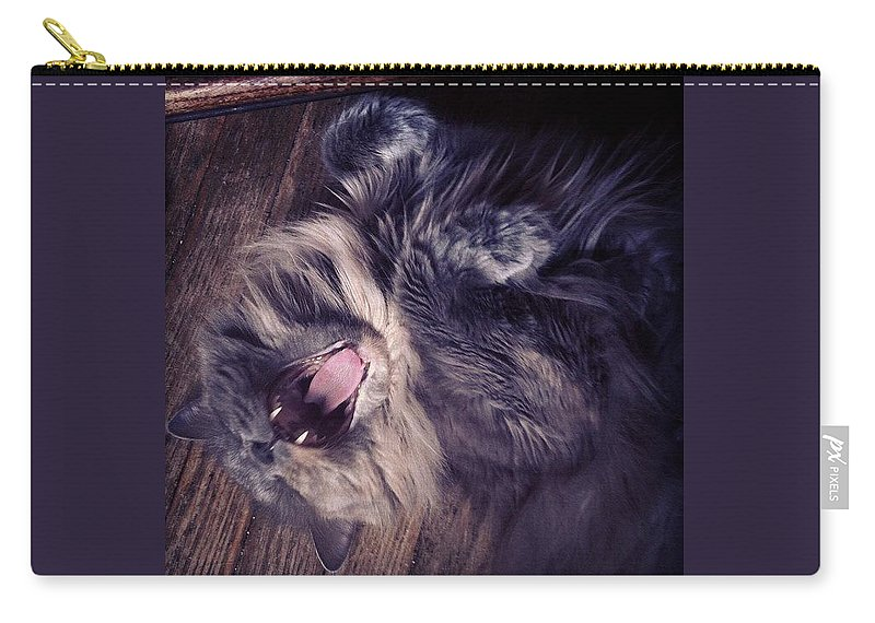 Fangs Carry-all Pouch featuring the photograph Has #fangs. Not Afraid To Use 'em by Katie Cupcakes