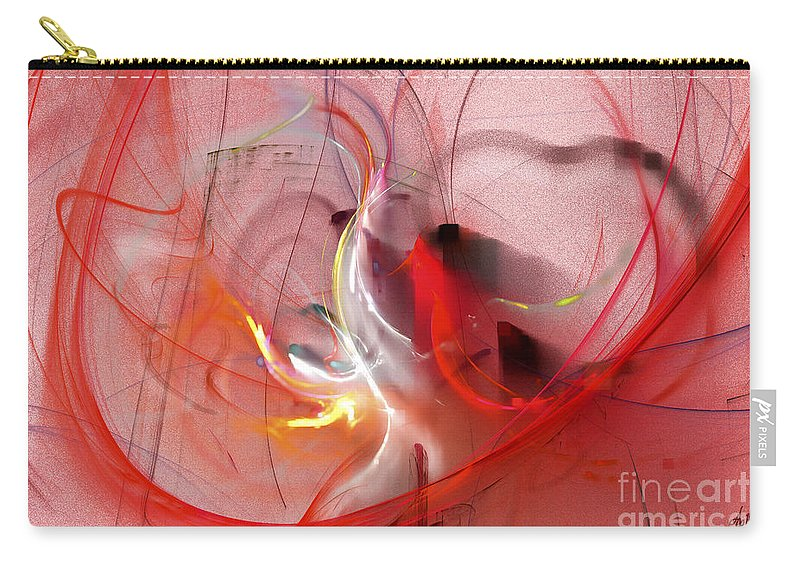Digital Carry-all Pouch featuring the digital art Haunted Hearts by Victoria Harrington