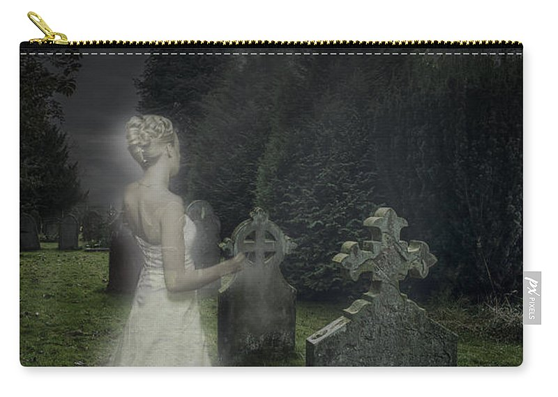 Haunted Carry-all Pouch featuring the photograph Haunting by Amanda Elwell