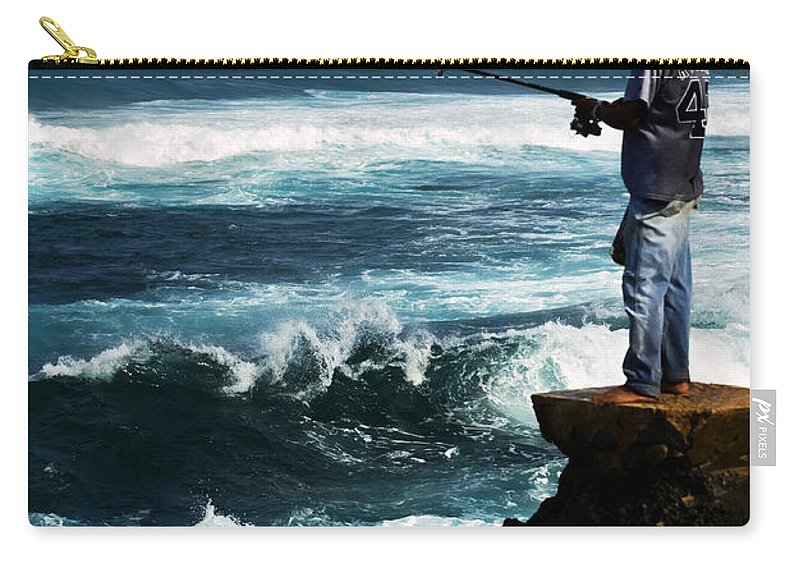 Fish Carry-all Pouch featuring the photograph Hawaiian Fisherman by Marilyn Hunt