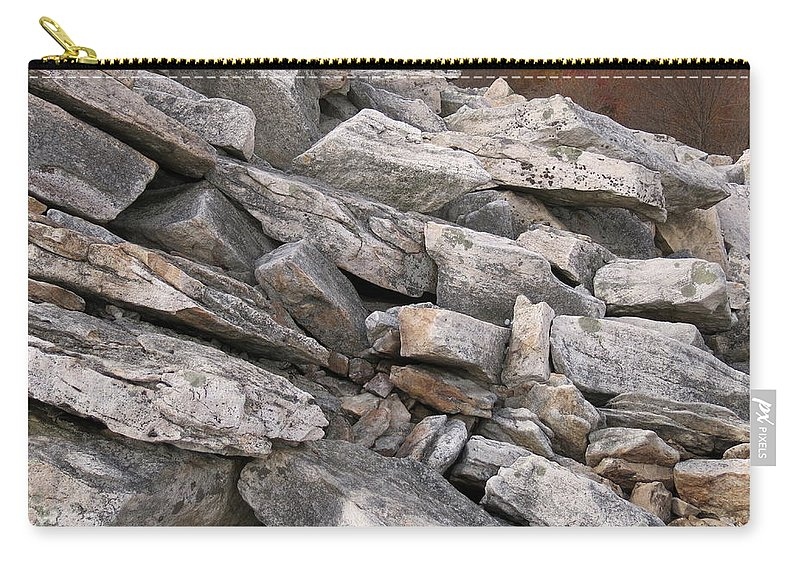Rock Carry-all Pouch featuring the photograph Hawk Watch Stacks by Jean Macaluso