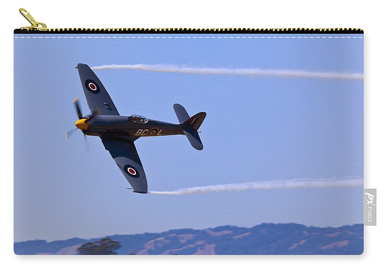 Hawker Sea Fury Carry-all Pouch featuring the photograph Hawker Sea Fury by Garry Gay