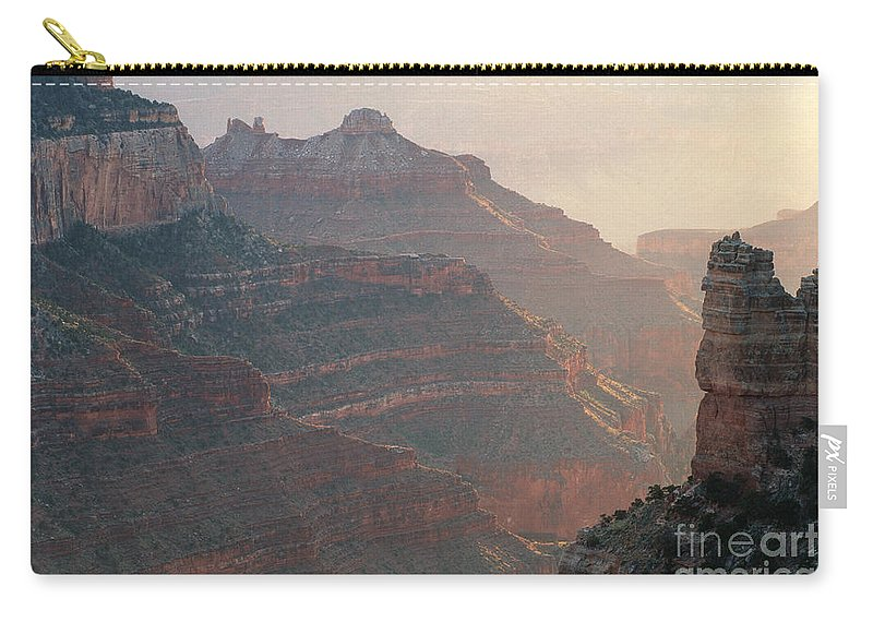 Bronstein Carry-all Pouch featuring the photograph Haze And Last Light by Sandra Bronstein