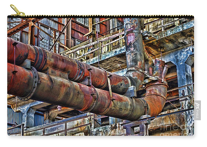 Pipes Carry-all Pouch featuring the photograph Hdrdp3214-11 by Randy Harris