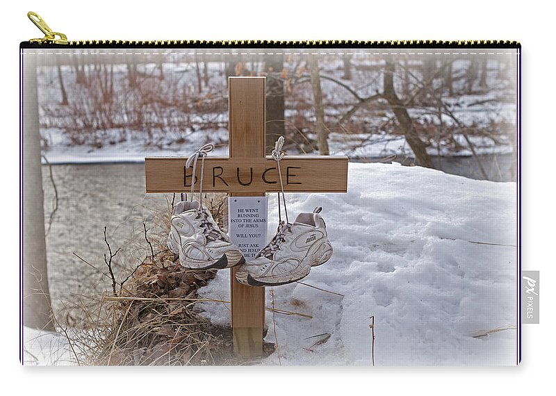 Running Carry-all Pouch featuring the photograph He Went Running by John Stephens