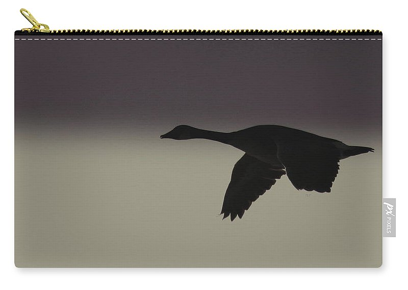 Canada Goose Carry-all Pouch featuring the photograph Headed Home by Travis Truelove