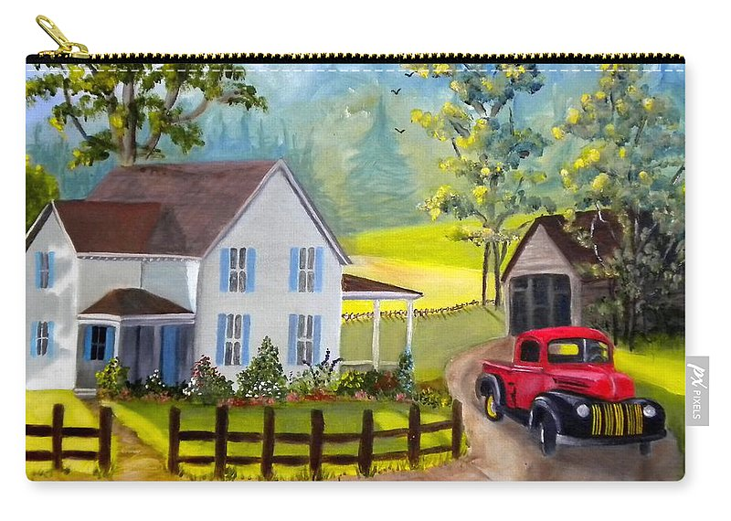 Ford Carry-all Pouch featuring the photograph Headin' Out by Renate Nadi Wesley